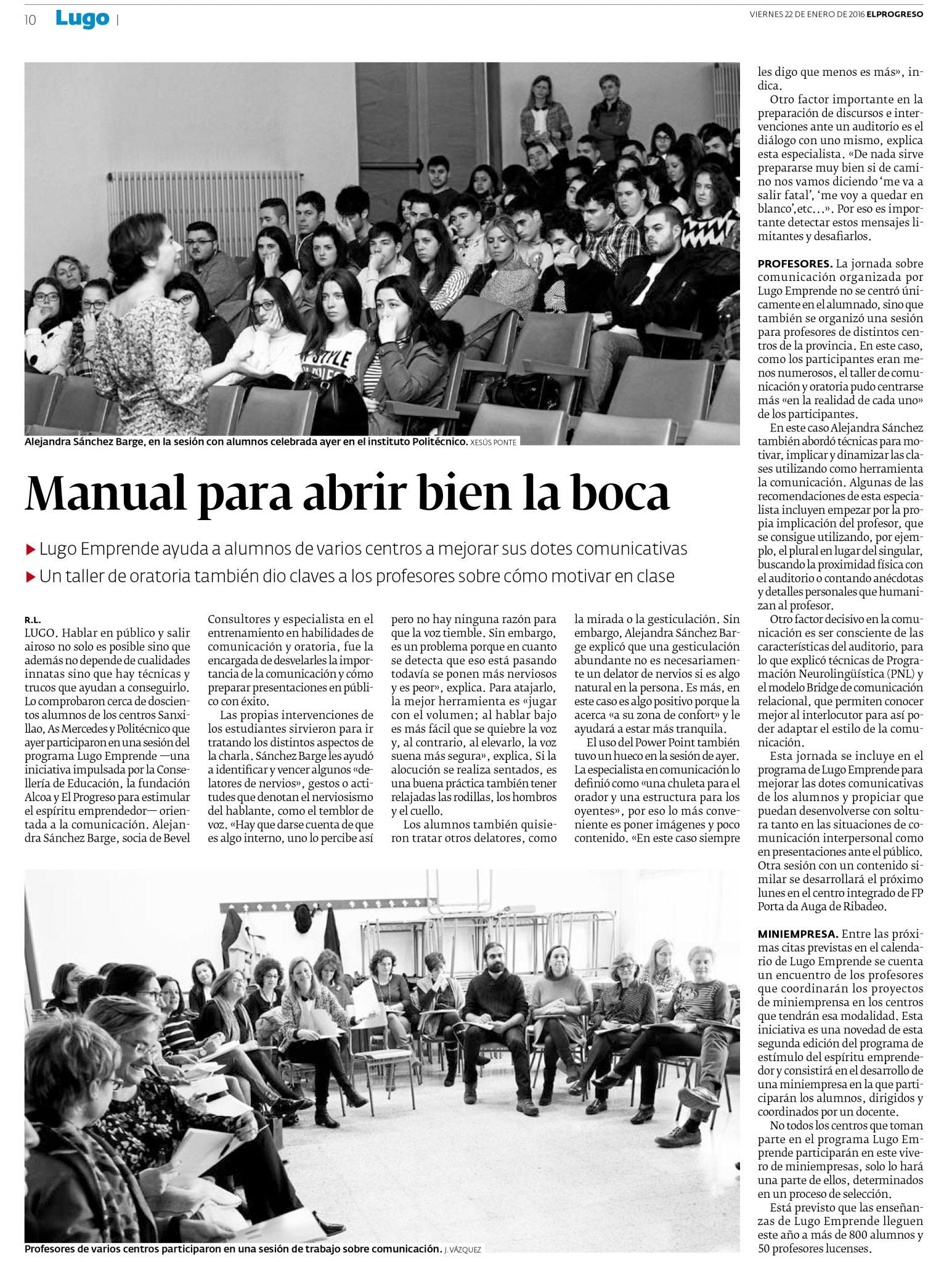 2016-01-22_EL PROGRESO-LUGO(Oratoria profes)