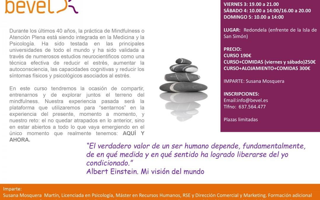 Taller Intensivo de Mindfulness, de fin de semana en Redondela (3, 4 y 5 de junio)