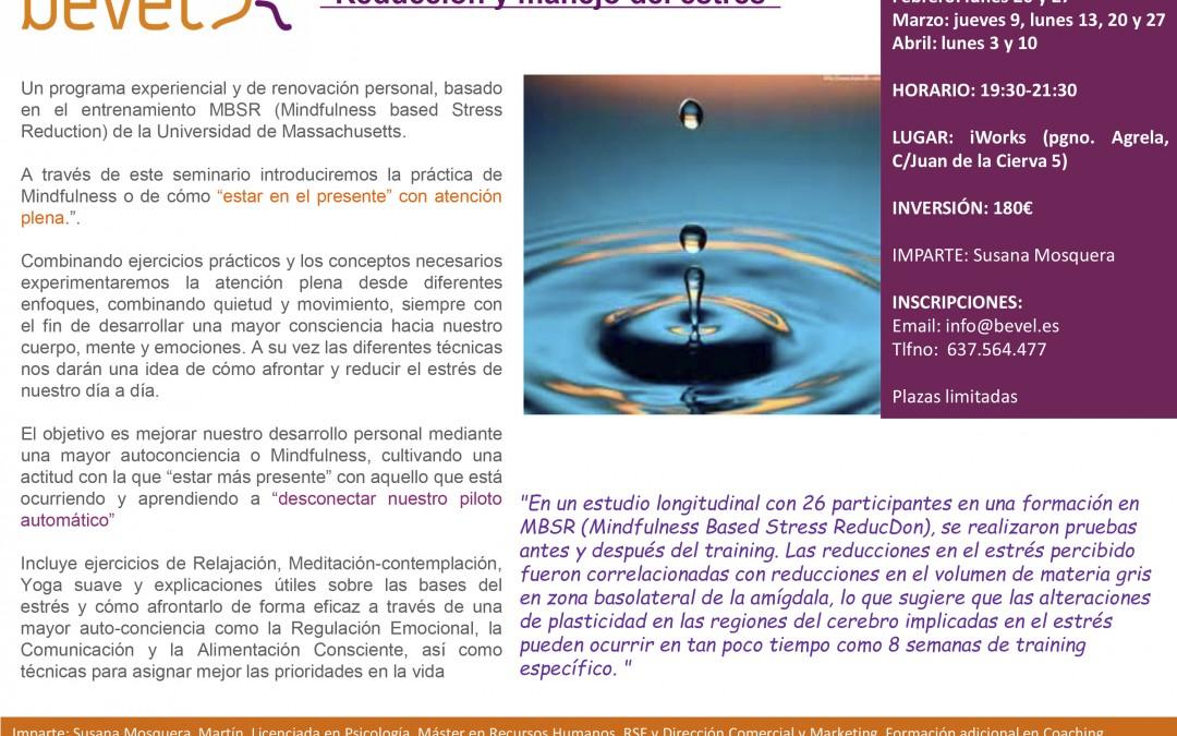 Mindfulness: reducción y manejo del estrés (del 20 de febrero al 10 de abril)