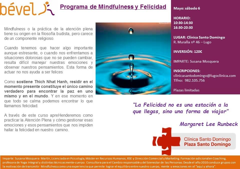 Programa de Mindfulness y Felicidad en Lugo (6  mayo)